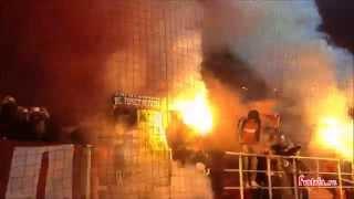 Пиротехника красно-белых / Спартак - Арсенал