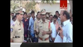 TDP MLA JC Prabhakar reddy Protest in Tadipatri Police Station I Bhaarat Today