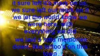 Jason Aldean Tattoos on This Town w/ Lyrics
