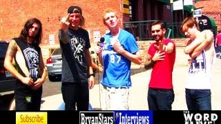 The Word Alive Interview #4 All Stars Tour 2012