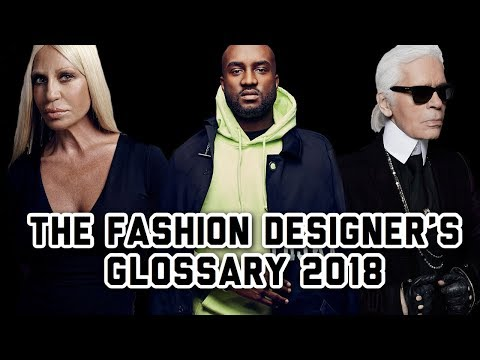 A GUIDE TO FASHON DESIGNERS 2018!! (ft. Karl Lagerfeld, Virgil Abloh, and Donatella Versace)