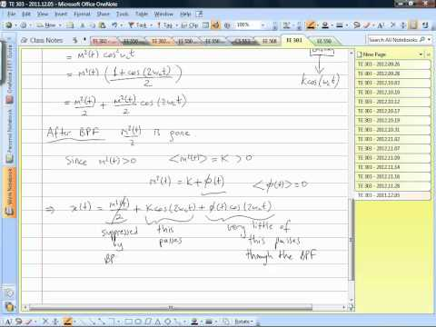 Sabanci University TE 303 lecture for December.05.2012 part 1 of 3