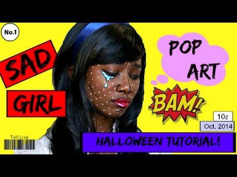 Pop Art // Roy Lichtenstein Halloween Tutorial!