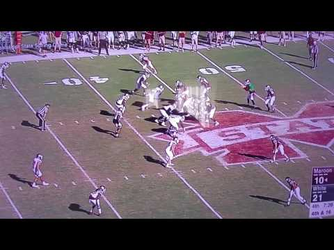 Mississippi State Football Spring Game Huge Hit Abrams on Bennie Braswell III