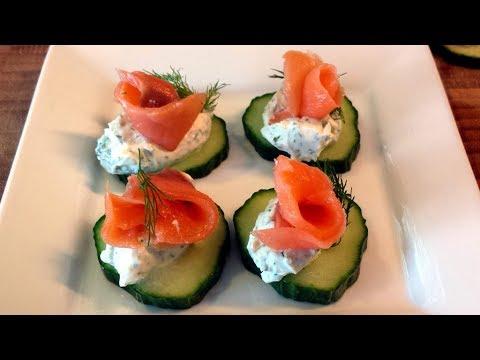 Dill Cream Cheese Smoked Salmon Canapé Recipe (gluten Free!)