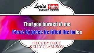 Karaoke Music KELLY CLARKSON - PIECE BY PIECE | Official Karaoke Musik Video