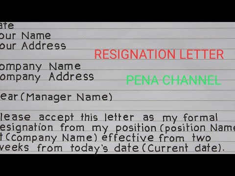 HOW TO WRITE RESIGNATION LETTER.