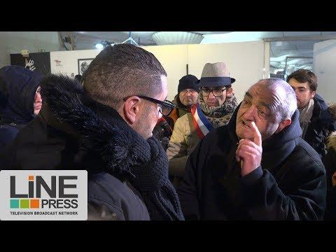Des élus dorment dans la rue avec des SDF / Paris - France 28 février 2018