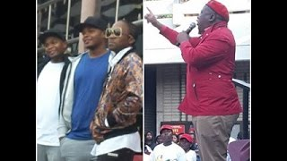 Julius Malema, Ifani ( ayadelela), and major Legue djz, NMMU  2015