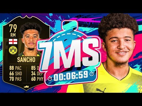 WONDERKID JADON SANCHO!! 7 MINUTE SQUAD BUILDER!! - FIFA 19 ULTIMATE TEAM