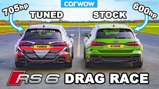 Audi RS6 - DRAG RACE *Tuned v Standard*