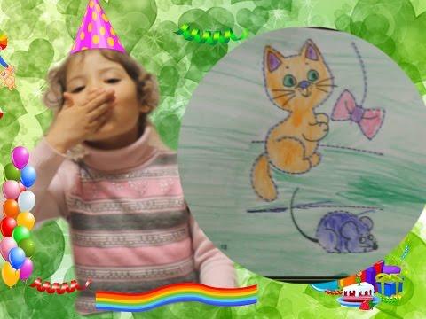 Раскрашиваем вместе с Лианой и учимся обводить по точкам / Видео для детей/Старшие и младшие
