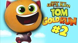 Annoying Orange Plays - Talking Tom Gold Run #2