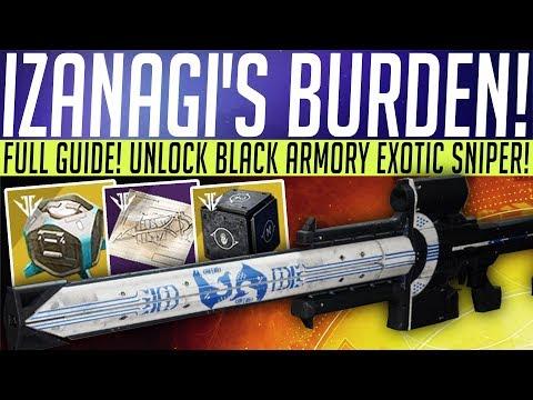 Destiny 2 // How To Get IZANAGI'S BURDEN - Black Armory Exotic Sniper FULL GUIDE! thumbnail