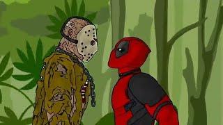 Download Jason Voorhees vs Deadpool - Drawing cartoons 2 Mp3 and Videos