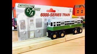 desembalaje Tren de madera - CTA 6000 serie Chicago Transit Authority (04342 es)