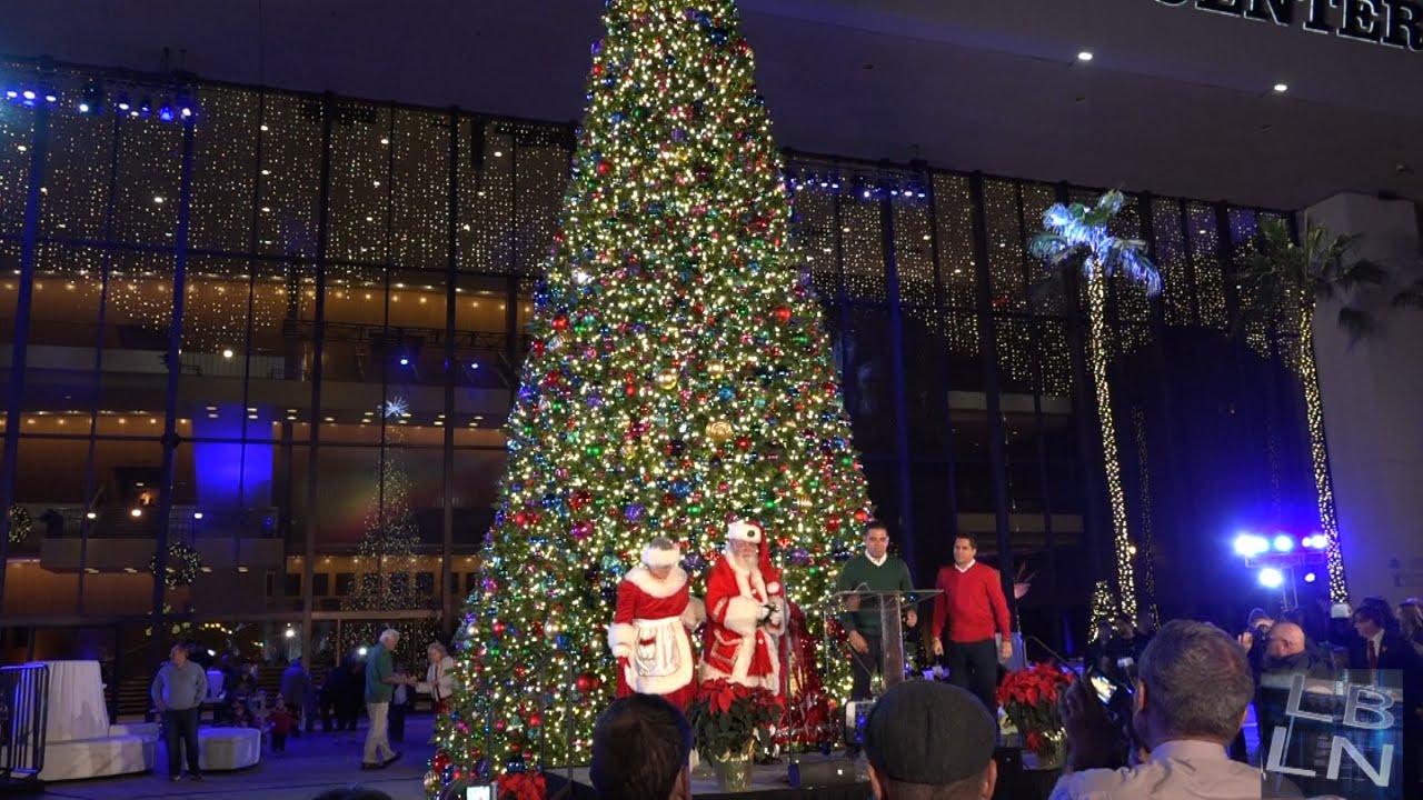 Long Beach Christmas Tree Lighting 2015 - YouTube