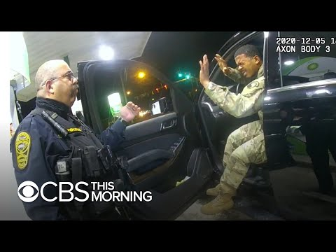 Police officer fired for pepper-spraying Black and Latino lieutenant during traffic stop Bodycam and cellphone video shows how a Virginia officer pepper-sprayed a Black and Latino Army lieutenant during a traffic stop in December. Christina ..., From YouTubeVideos