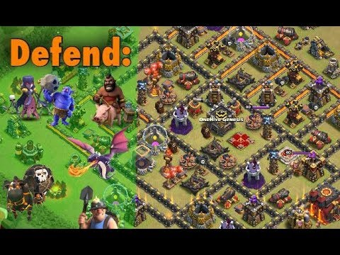 Keys to TH10 Anti 3-Star Base - Defend 10v10 and Dips!