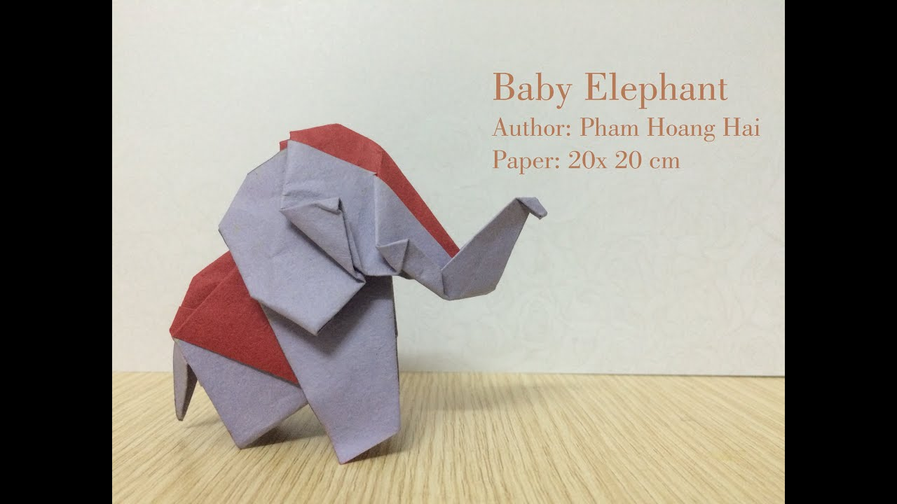 tutorial origami baby elephant paperph2 youtube