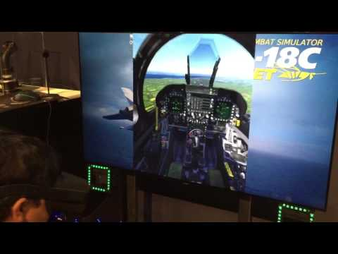 DCS F/A-18C Hornet VR Gameplay at E3 2017