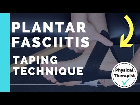 Plantar Fasciitis Taping with Kinesiology Tape