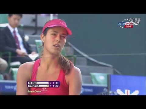 Ana Ivanovic vs Laura Robson 2011 Tokyo Highlights