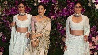 Beautiful Kareena Kapoor With Sister Karishma Kapoor @ Akash Ambani & Shloka Mehta Wedding 2019