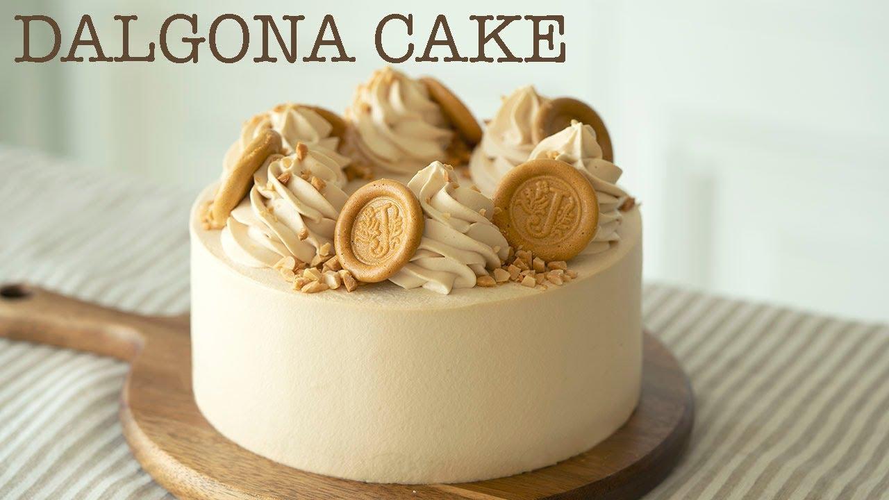 달고나 만들어 케이크까지/ How to make Dalgona Cake ( by Korean Caramel Candy)