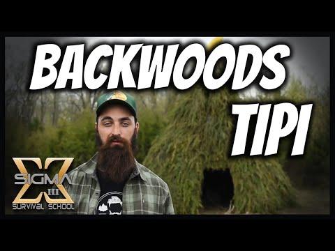 Building a Backwoods Primitive Tipi