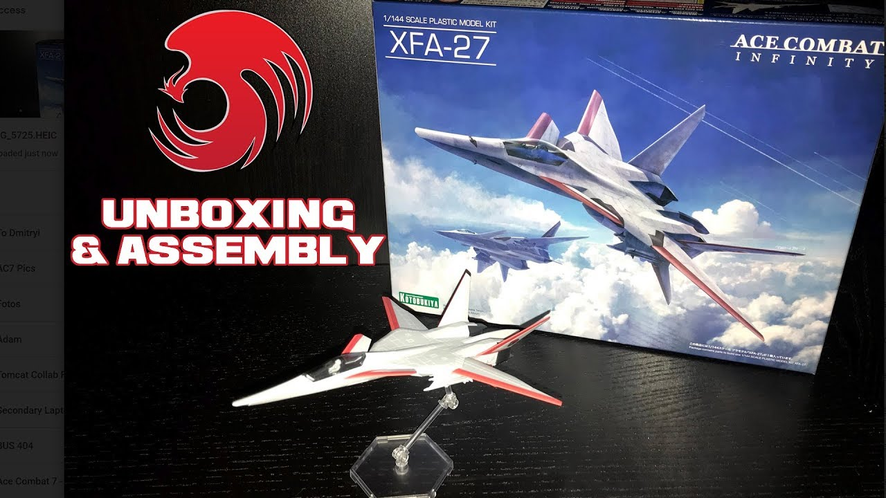 Ace Combat Infinity XFA 27 SCARFACE Model Kit Unboxing Assembly