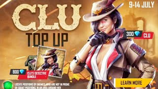 new character clu & clu detective bundle top up event in free fire by boss
