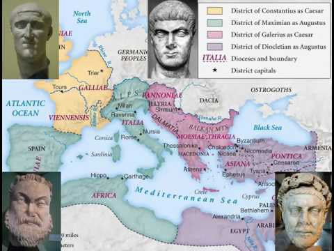 Roman History 26 - Diocletian And The Tetrarchy 292-308 AD