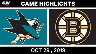 NHL Highlights   Sharks vs. Bruins – Oct. 29, 2019
