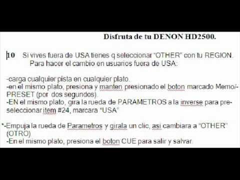 DENON HD2500 CONF,ACT,ESP,DRIVER,FIRM V1400 & ETIQUETA (DESCARGABLE)