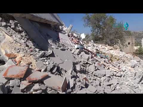 Idlib- al Bashiriya: destruction of medical center in suspected Russian forces shelling 27 9 2017