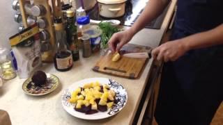 Фитнес-салат с апельсином, свеклой и рукколой :-)