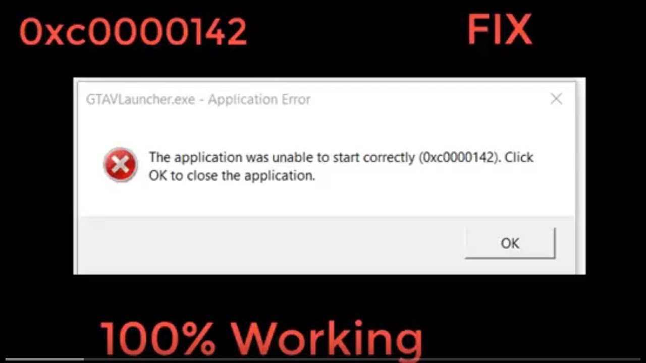 The application was unable to start correctly (0xc0000142) GTA V