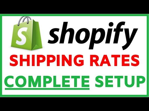 Shopify Shipping Rates Tutorial | How To Setup Shipping Settings In Your Store thumbnail