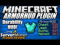 How to view durability quicker in Minecraft with ArmorHUD Plugin