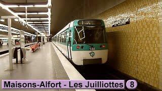 Métro de Paris : Maisons-Alfort - Les Juilliottes | Ligne 8 ( RATP MF77 )