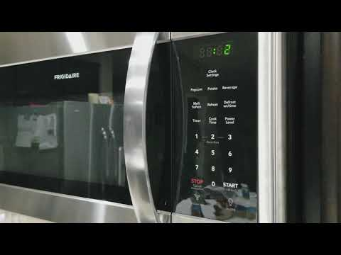 Turn off the annoying long beeps on a Frigidaire microwave