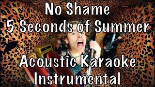 Download Lagu 5 Seconds of Summer - No Shame acoustic karaoke instrumental MP3