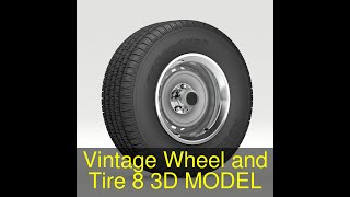3D Model of Vintage Wheel and Tire 8 Review