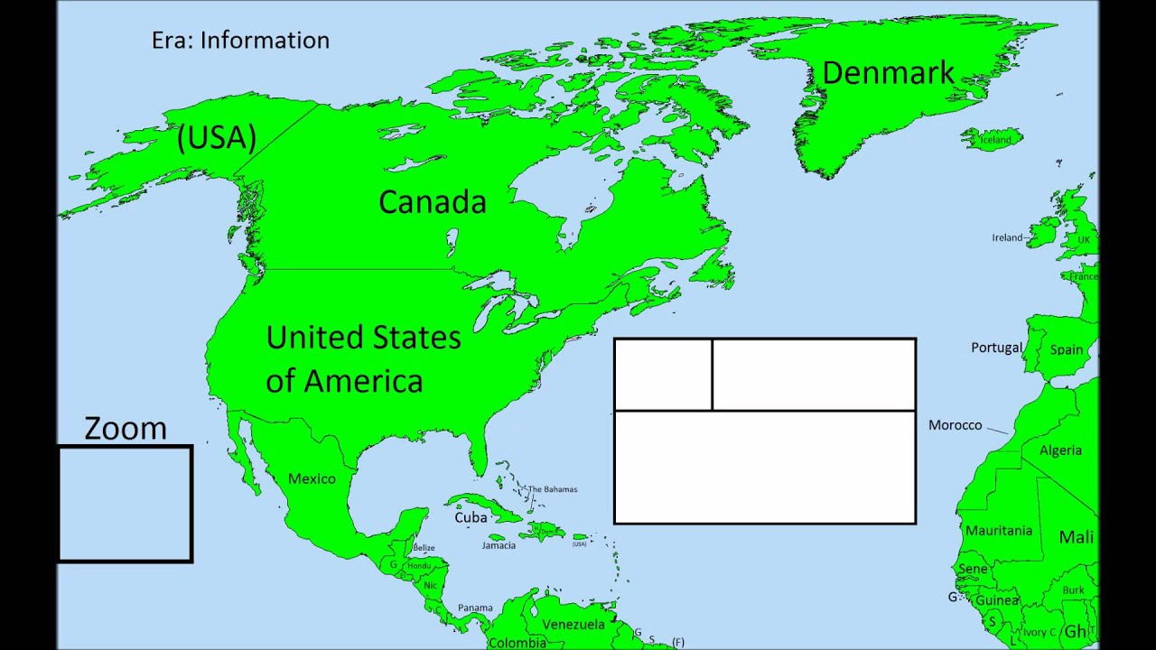 Future Of North America Map Preview YouTube - Future map of north america