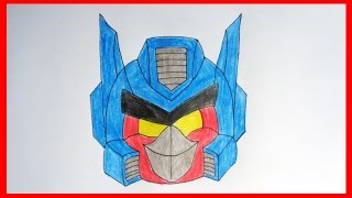 How to draw Optimus Prime, Angry Birds Transformers