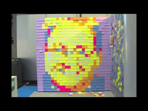 3 post-it art portraits in Leipzig