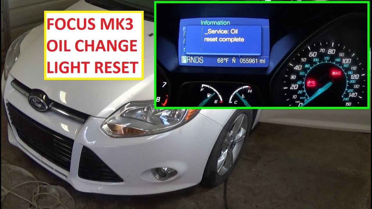 How To Reset The Change Engine Oil Light Reset Oil Life On