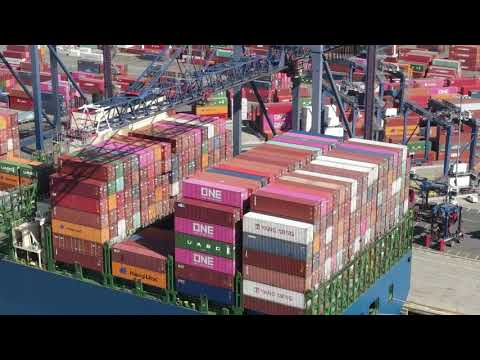 Container Ship Loading and Unloading
