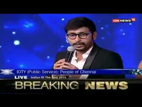 """RJ Balaji's Speech after receiving the """" Indian of the Year """" award"""